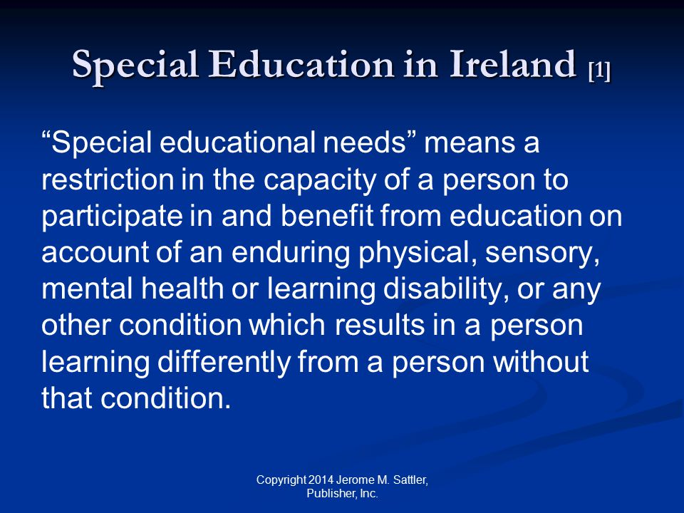 Special Education in Ireland [1]